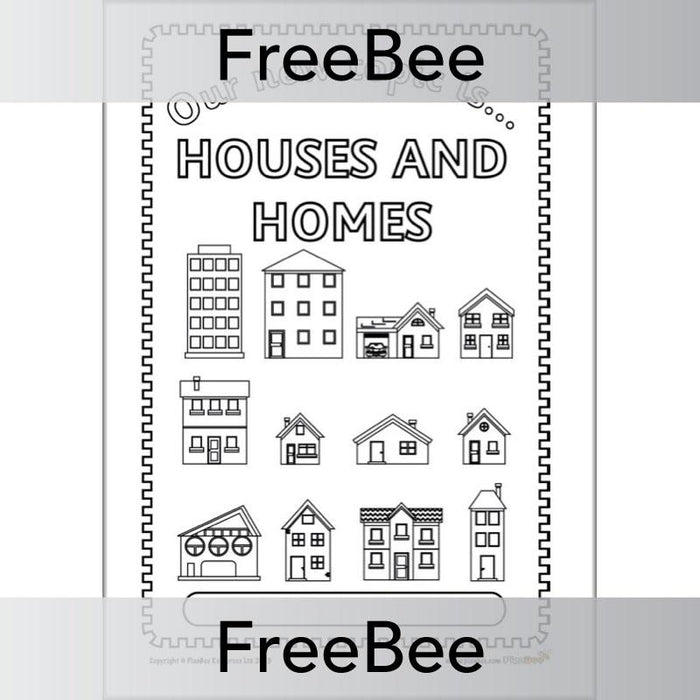 Houses and Homes Topic Bundle Cover
