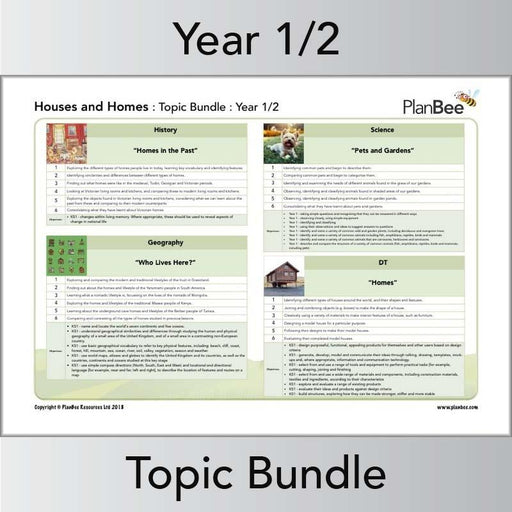 PlanBee Houses and Homes KS1 Topic Lessons by PlanBee