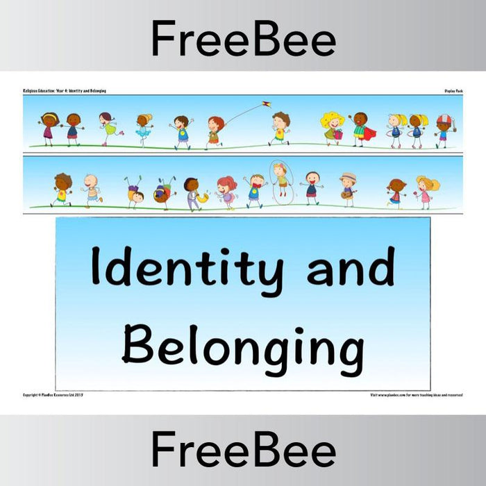 PlanBee Identity and Belonging | Display Pack | PlanBee FreeBees
