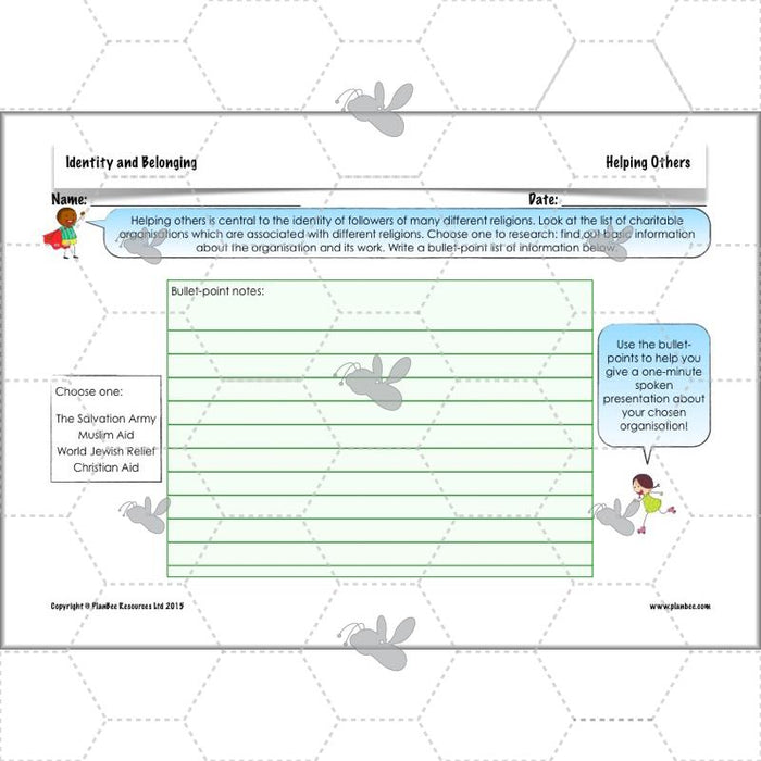 PlanBee Identity and Belonging - Year 4 RE Lesson Planning & Resources | KS2