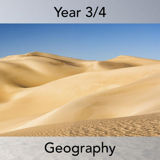 PlanBee In the Desert: Complete set of Geography lessons for Year 3 & Year 4