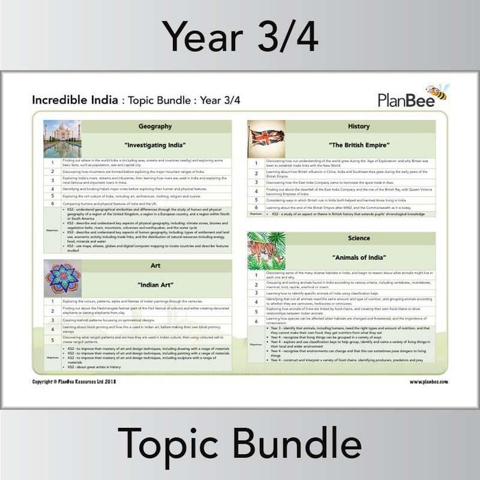 PlanBee Incredible India Topic Planning KS2 Lessons by PlanBee