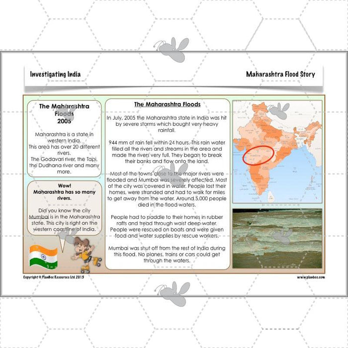 PlanBee Investigating India: Geography scheme of work for LKS2 Year 3 & Year 4