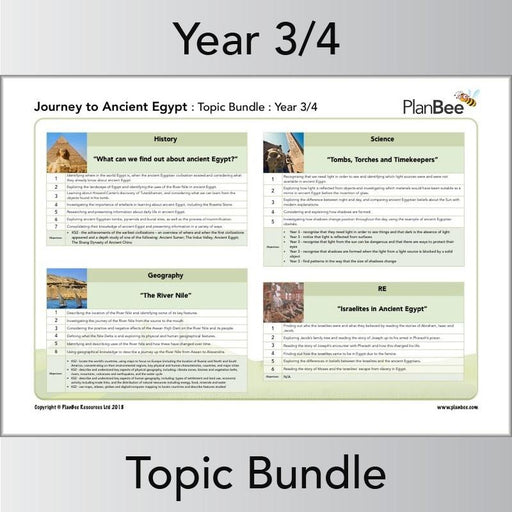 PlanBee KS2 Ancient Egypt Topic - Year 3/4 Topic Lessons by PlanBee