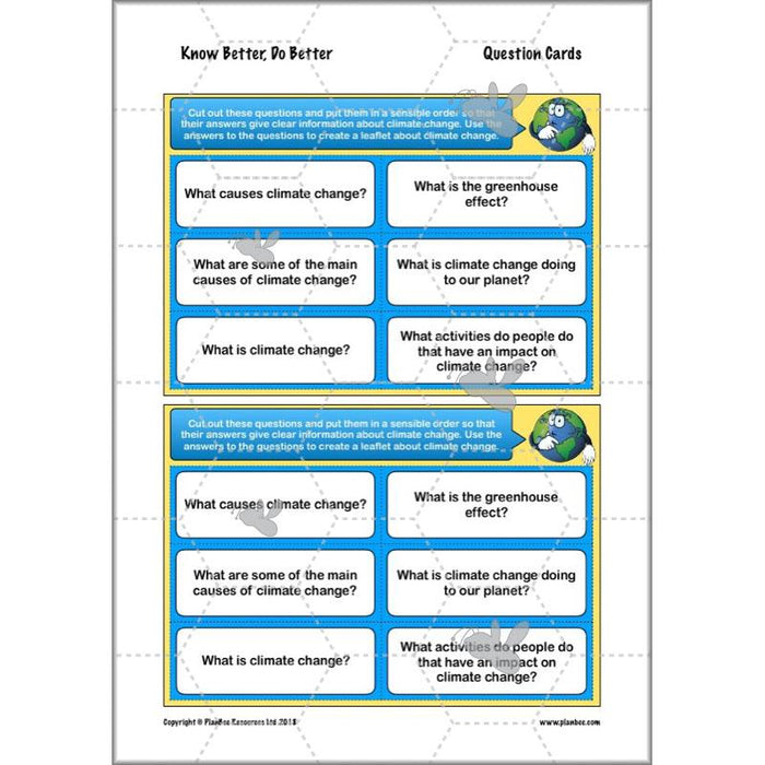PlanBee Climate Change Worksheets KS2 Lesson | PlanBee