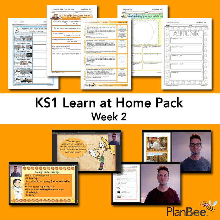 PlanBee KS1 Home Learning Pack by PlanBee