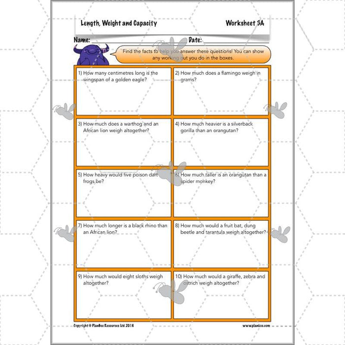 PlanBee Length, Weight & Capacity - Year 5 Maths Planning - Measurement