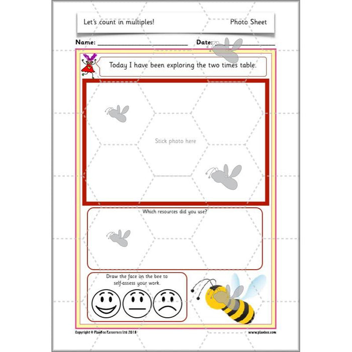 PlanBee Let's count in multiples - maths for Year 1 KS1