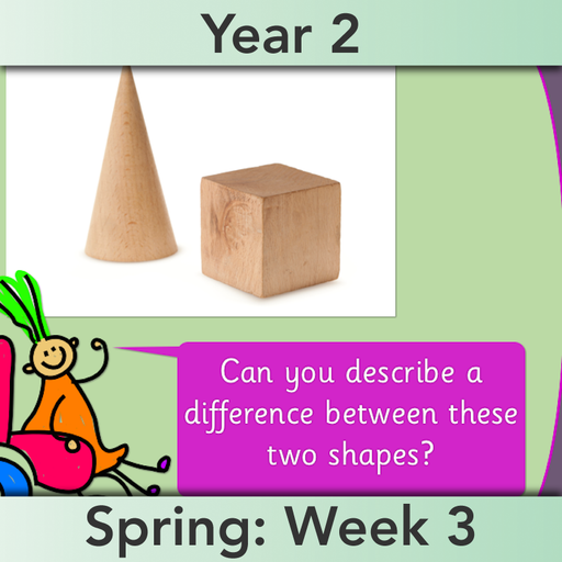 PlanBee Explore 3D Shapes Year 2 Maths Lesson by PlanBee