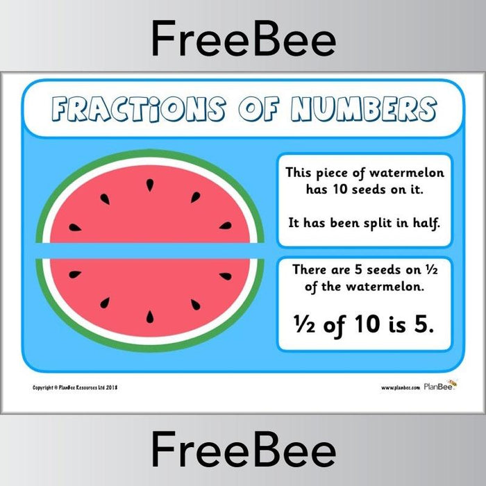 Fractions of Numbers Posters