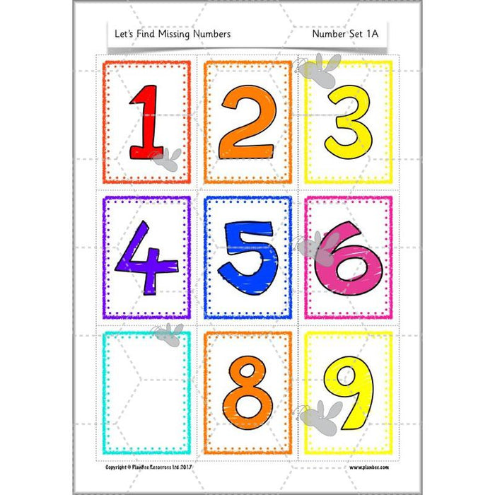 PlanBee Missing Numbers KS1 FREE Year 1 Maths Scheme by PlanBee