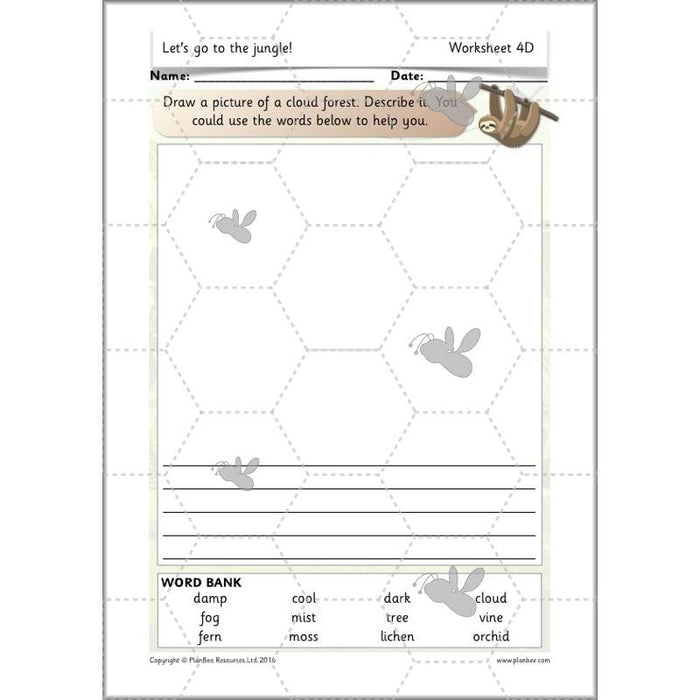 PlanBee Let's go to the Jungle Geography lessons for KS1