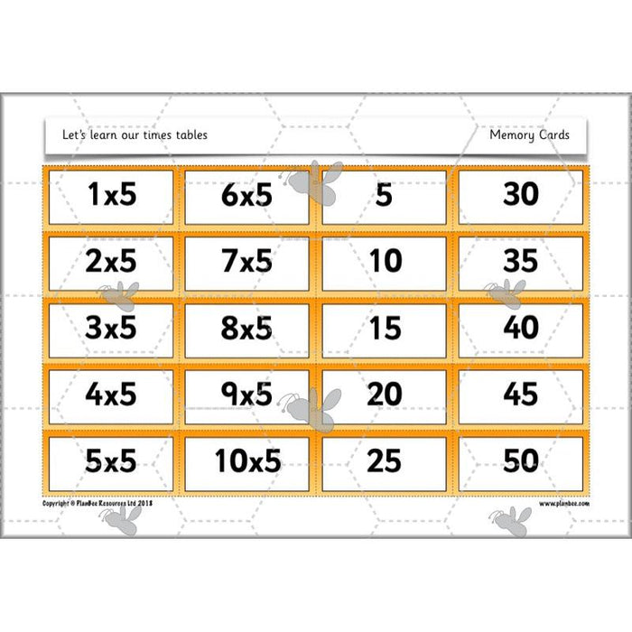 Let's learn our times tables