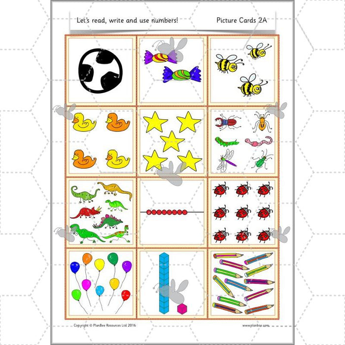 PlanBee Let's read, write and use numbers Year 1 KS1