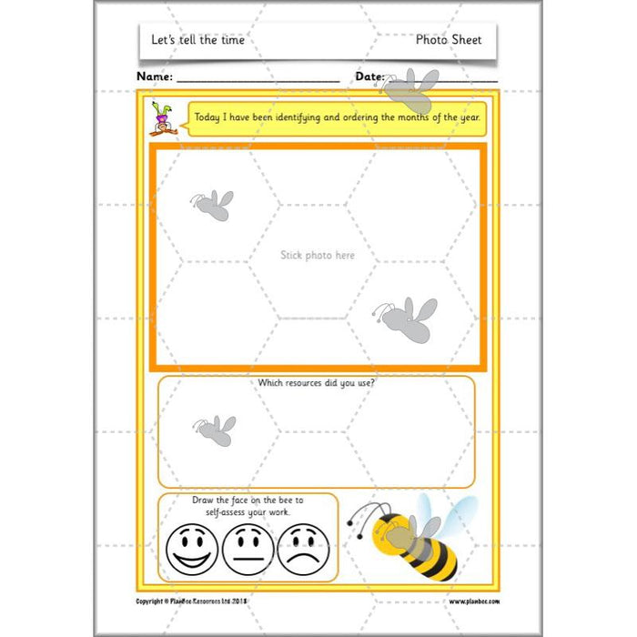 PlanBee Let's tell the time - KS1 Year 1 complete planning