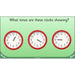 PlanBee Let's tell the time to half past the hour | Year 1 Maths | Measurement