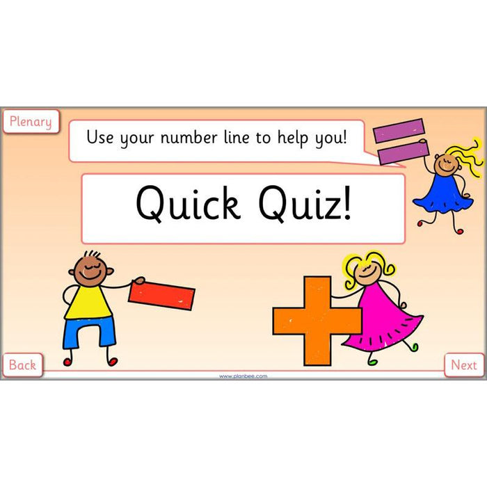 PlanBee Let's use a number line - KS1 Year 1 complete lesson pack