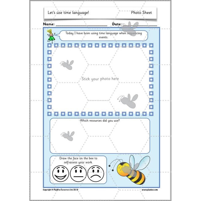 PlanBee Time Language Year 1 Maths lesson | KS1 Maths Plans