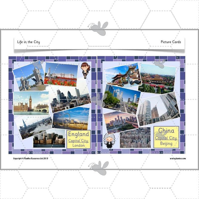 PlanBee Life in the City - Geography lesson resources for KS1