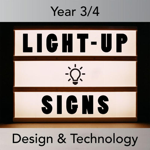 PlanBee Light-Up Signs: Circuits and Structures - KS2 DT Lesson Plans