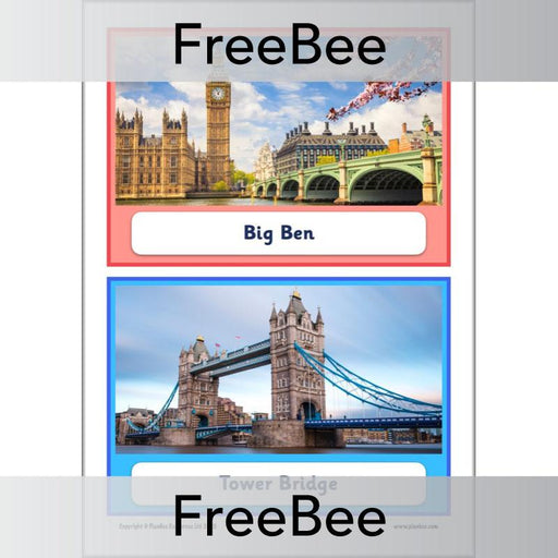 PlanBee FREE London Landmarks KS1 Display Cards  | Geography