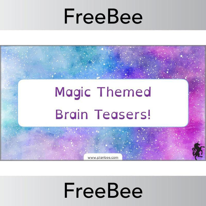 Magic Themed Brain Teasers