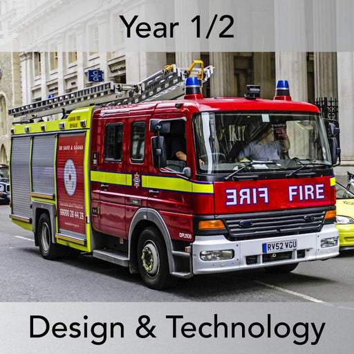 PlanBee Making Fire Engines: Complete set of KS1 DT lessons