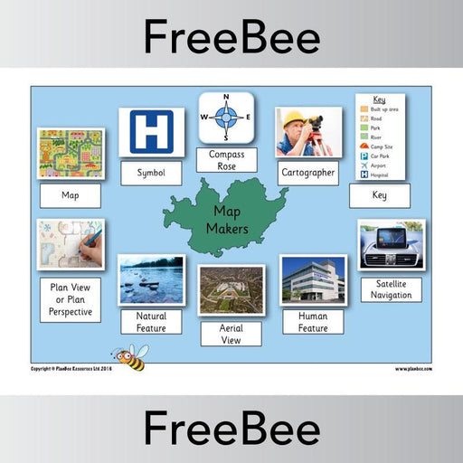 PlanBee Free Map Geographical Vocabulary KS1 | PlanBee