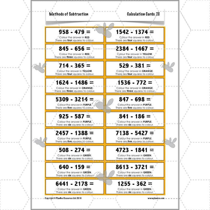 PlanBee Methods of Subtraction - Addition & Subtraction: Year 4 Primary Maths