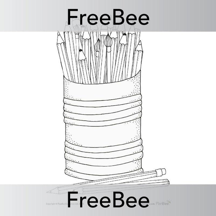 PlanBee FREE Pencil Mindfulness Colouring Sheets by PlanBee
