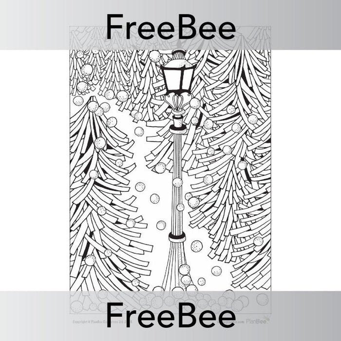 PlanBee FREE Winter Mindfulness Colouring Sheets by PlanBee