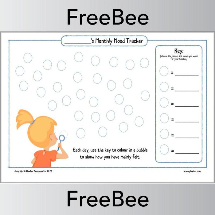 PlanBee Printable Mood Trackers for Kids