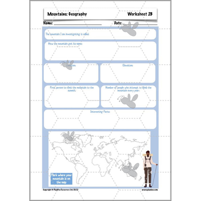 PlanBee Mountains KS2 Cross-Curricular Topic Resources by PlanBee