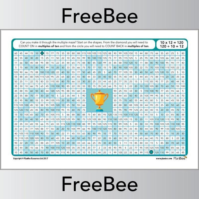 Multiple Mazes 10x table