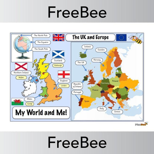 PlanBee My World Word Mat | PlanBee FreeBees