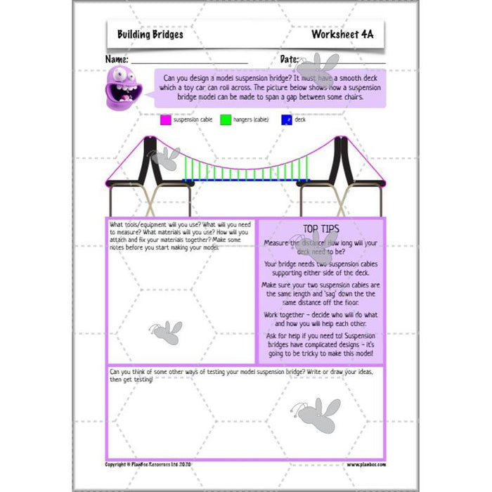 PlanBee Building Bridges: KS2 structures Design and Technology lessons