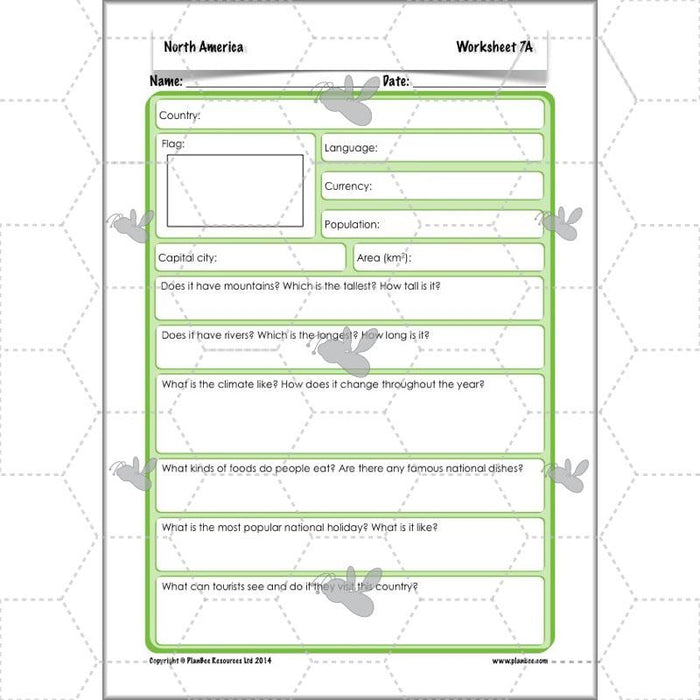 PlanBee North America KS2 Geography Lesson Pack by PlanBee