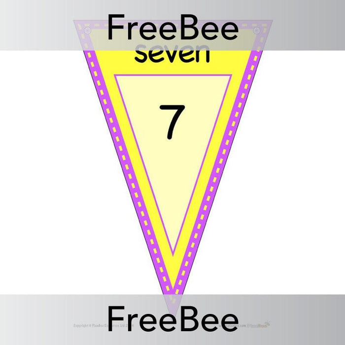 PlanBee Negative Number Line Display Bunting | PlanBee