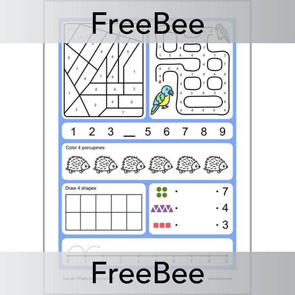 PlanBee Number Formation Worksheets Free PlanBee Resource