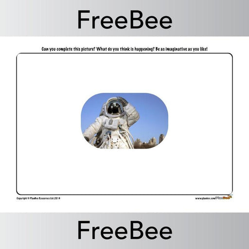 PlanBee Outer Space 'Finish the Picture' | PlanBee FreeBees