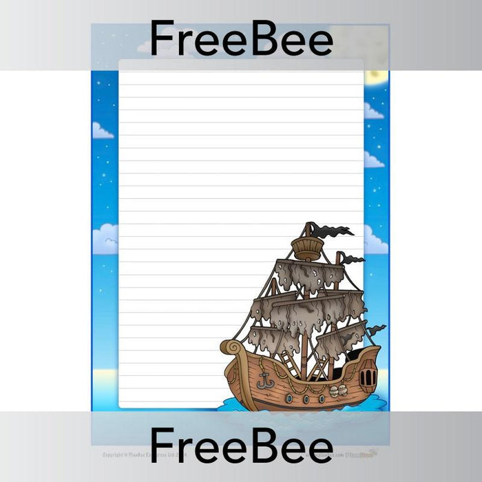 Pirate Ship Writing Frame