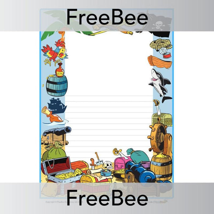 PlanBee Pirate Writing Frame | PlanBee FreeBees