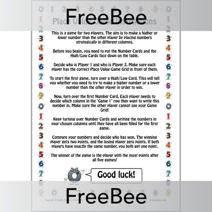 PlanBee Place Value Game | KS2 Maths Game