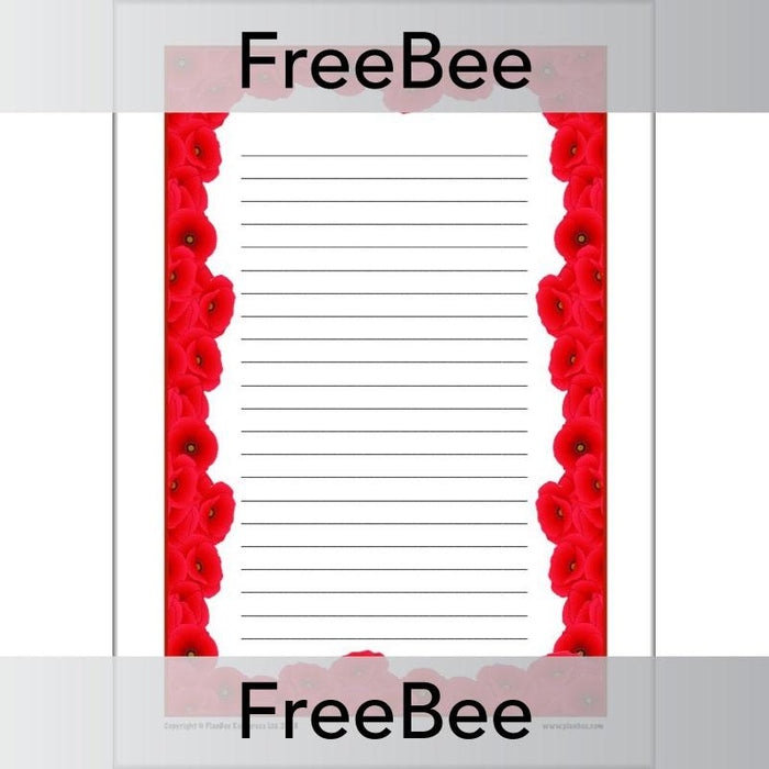 PlanBee Poppy Writing Frames Free Resources by PlanBee