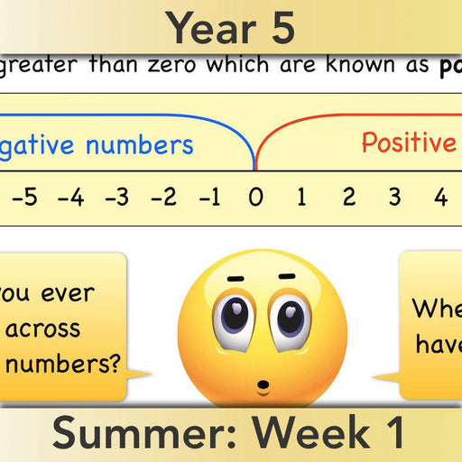 PlanBee Positive and Negative Numbers Year 5 Maths | PlanBee