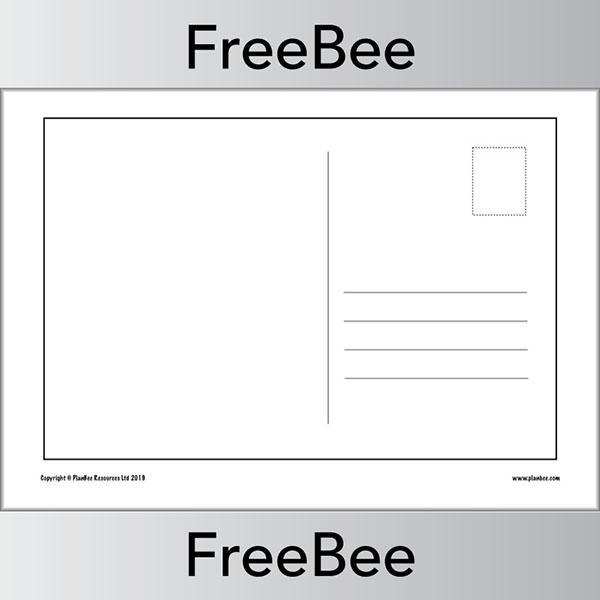 Free Blank Postcard Templates For Children