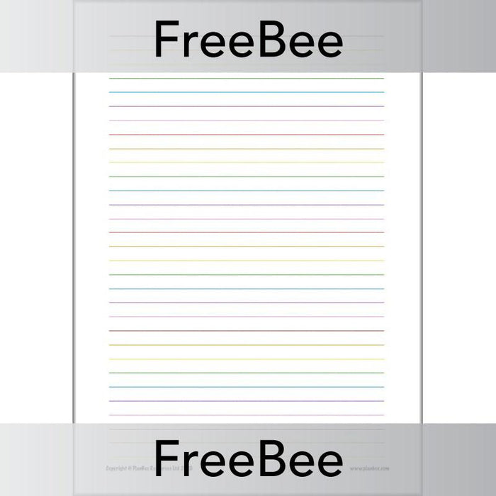 PlanBee Free Rainbow Lined Paper created by PlanBee