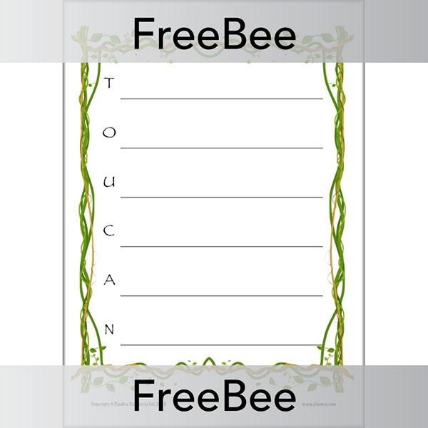 PlanBee Rainforest Acrostics | PlanBee FreeBees