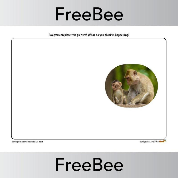 PlanBee Rainforest Animals 'Finish the Picture' | PlanBee FreeBees