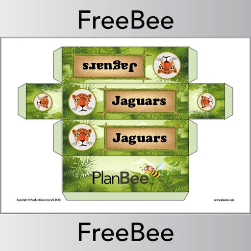 PlanBee Free Rainforest Group Name Labels | PlanBee FreeBees
